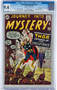 Journey Into Mystery #84 Don/Maggie Thompson Collection pedigree (Marvel, 1962) CGC NM 9.4 Off-white to white pages