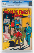 Golden Age (1938-1955):Superhero, World's Finest Comics #35 (DC, 1948) CGC NM 9.4 Off-white to white pages....