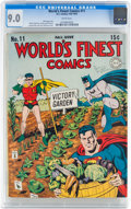 Golden Age (1938-1955):Superhero, World's Finest Comics #11 (DC, 1943) CGC VF/NM 9.0 White pages....