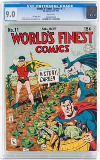 World's Finest Comics #11 (DC, 1943) CGC VF/NM 9.0 White pages