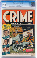 Golden Age (1938-1955):Crime, Crime Does Not Pay #22 (#1) (Lev Gleason, 1942) CGC FN/VF 7.0 White pages....