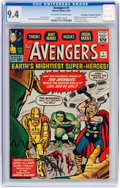 Silver Age (1956-1969):Superhero, The Avengers #1 Don/Maggie Thompson Collection pedigree (Marvel,1963) CGC NM 9.4 Off-white to white pages....
