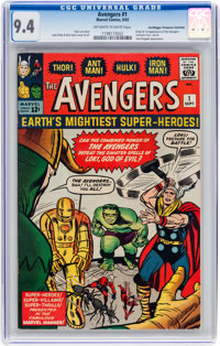 The Avengers #1 Don/Maggie Thompson Collection pedigree (Marvel, 1963) CGC NM 9.4 Off-white to white pages