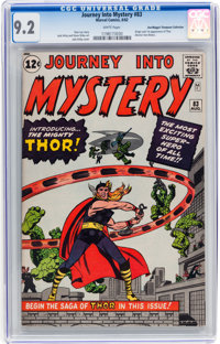 Journey Into Mystery #83 Don/Maggie Thompson Collection pedigree (Marvel, 1962) CGC NM- 9.2 White pages