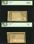 Colonial Notes:Maryland, Maryland April 10, 1774 Two Different Denominations.. ... (Total: 2 notes)