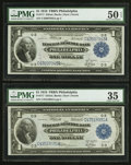 Large Size:Federal Reserve Bank Notes, Two Fr. 717 $1 1918 Federal Reserve Bank Notes PMG Choice Very Fine 35-About Uncirculated 50 EPQ.. ... (Total: 2 notes)
