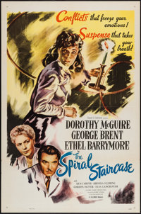 """The Spiral Staircase (Selznick, R-1956). One Sheet (27"""" X 41""""). Thriller"""