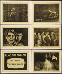 "Elmo the Fearless (Universal, 1920). Title Lobby Card & Lobby Cards (5) (11"" X 14"") Episode 10 -- &quo..."