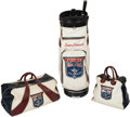 Golf Collectibles:Miscellaneous, 1969 Ryder Cup Team-Issued Bags (3) Owned & Used by SamSnead....