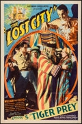 "Movie Posters:Serial, The Lost City (Super Serial Productions, 1935). One Sheet (27"" X41"") Episode 5 -""Tiger Prey."" Serial.. ..."