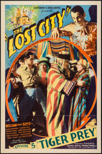 "The Lost City (Super Serial Productions, 1935). One Sheet (27"" X 41"") Episode 5 -""Tiger Prey."" Seria..."