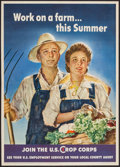 "Movie Posters:War, World War II Propaganda (U.S. Government Printing Office, 1943).OWI Poster No. 59 (20"" X 28"") ""Work on a farm... this Summe..."