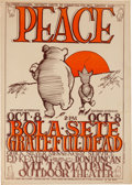 "Music Memorabilia:Posters, Grateful Dead/Bola Sete ""Peace Pooh"" Mt. Tamaipais Outdoor TheaterConcert Poster (1966)...."
