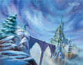 Animation Art:Production Drawing, Belle's Magical World Master Background (Walt Disney,1998)....