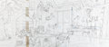Animation Art:Production Drawing, The Tigger Movie Tigger's House Production Layout Drawing(Walt Disney, 2000)....