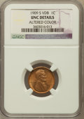 Lincoln Cents, 1909-S VDB 1C -- Altered Color -- NGC Details. Unc....