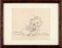 Slap Happy Lion Production Drawing Mgm 1947 Animation Art