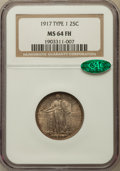 Standing Liberty Quarters: , 1917 25C Type One MS64 Full Head NGC. CAC. NGC Census: (1278/1111).PCGS Population (1701/1442). Mintage: 8,740,000. Numism...