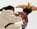 Animation Art:Production Cel, Street Fighter Production Cels (USA Network, 1995)....(Total: 5 )