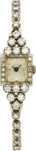 Estate Jewelry:Watches, Hamilton Lady's Diamond, White Gold Wristwatch. ...