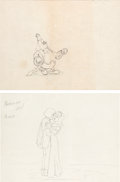 Animation Art:Production Drawing, Gulliver's Travels Princess, Prince, and King Production Drawing Group (Fleischer Studios, 1939).... (Total: 2 )