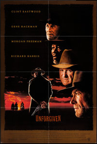 "Unforgiven (Warner Brothers, 1992). One Sheet (27"" X 40""). Western"