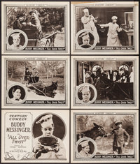 """All Over Twist (Universal, 1923). Title Lobby Card & Lobby Cards (5) (11"""" X 14""""). Comedy. ... (Total:..."""