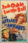 """Movie Posters:Comedy, The Affairs of Annabel (RKO, 1938). One Sheet (27"""" X 41""""). Comedy....."""
