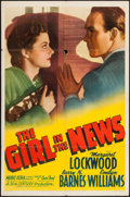 "Movie Posters:Crime, The Girl in the News (20th Century Fox, 1941). One Sheet (27"" X41""). Crime.. ..."