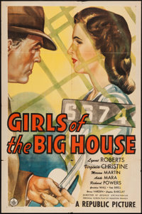 "Girls of the Big House (Republic, 1945). One Sheet (27"" X 41""). Mystery"