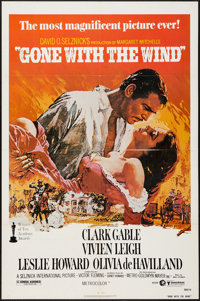 """Gone with the Wind (MGM, R-1980). One Sheet (27"""" X 41""""). Academy Award Winners"""