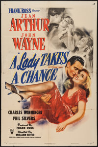 "A Lady Takes a Chance (RKO, 1943). One Sheet (27"" X 41""). Comedy"