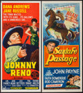 "Movie Posters:Western, Johnny Reno & Others Lot (Paramount, 1966). Australian Daybills(3) (13"" X 30""). Western.. ... (Total: 3 Items)"