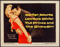 """The Prince and the Showgirl (Warner Brothers, 1957). Half Sheet (22"""" X 28""""). Romance"""