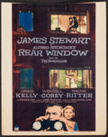 """Movie Posters:Hitchcock, Rear Window (Paramount, 1954). Trimmed Window Card (14"""" X 17.5"""").Hitchcock.. ..."""