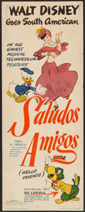 "Movie Posters:Animation, Saludos Amigos (RKO, 1943). Insert (14"" X 36""). Animation.. ..."