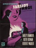 """Movie Posters:Hitchcock, Strangers on a Train (Warner Brothers, 1952). Danish Poster (23.5""""X 33.5""""). Hitchcock.. ..."""