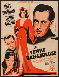 """They Drive by Night (Warner Brothers, 1947). First French Post-War Release Affiche (23.75"""" X 31.25""""). Drama..."""