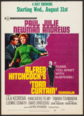 """Movie Posters:Hitchcock, Torn Curtain (Universal, 1966). Trimmed Window Card (14"""" X 19.5"""").Hitchcock.. ..."""