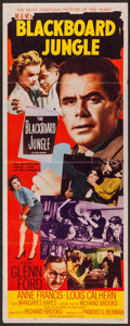 "Movie Posters:Drama, Blackboard Jungle (MGM, 1955). Insert (14"" X 36""). Drama.. ..."