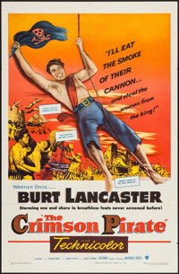 "The Crimson Pirate (Warner Brothers, 1952). One Sheet (27"" X 41""). Adventure"