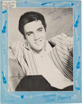 Music Memorabilia:Autographs and Signed Items, Elvis Presley - A Signed Magazine Page, Circa 1957....