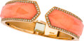 Estate Jewelry:Bracelets, Quartz, Coral, Pink Gold Bracelet, Stephen Webster, English. ...