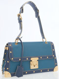 Luxury Accessories:Bags, Louis Vuitton Limited Edition Blue Suhali Goat Leather Le TalenteuxBag. ...