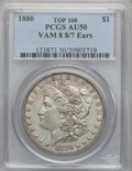 Morgan Dollars, 1880 $1 8/7 Ears AU50 PCGS. VAM-8....