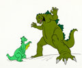 Animation Art:Production Cel, The Godzilla Power Hour Godzilla and Godzooky Publicity Cel(Hanna-Barbera, 1978)....