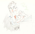 Animation Art:Production Drawing, Les Clark Disney Studio Caricature (Walt Disney, c. 1930s)....