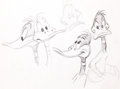 Animation Art:Production Drawing, Daffy Duck Character Study by Chuck Jones (Warner Brothers, 1950s)....