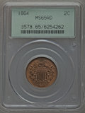 1864 2C Large Motto MS65 Red PCGS....(PCGS# 3578)