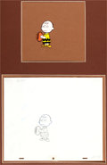 Animation Art:Production Cel, Charlie Brown/ Peanuts Production Cel and Drawings (BillMelendez Studios, 1970s).... (Total: 3 Items)